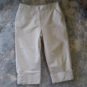 Talbots Petite Stretch Capri Cuffed Pants Size 8P